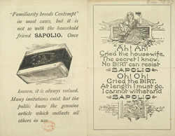 Advert for Sapolio Soap